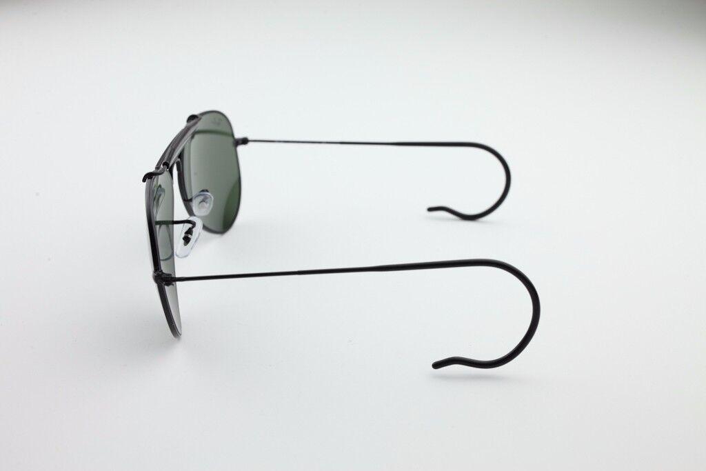 e4cc9f85cd7 New Ray Ban Sunglasses AVIATOR OUTDOORSMAN Black RB 3030 L9500 G-15 Glass  Lens