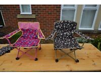 Children Foldable Camping Chairs (2 available) - £5 each