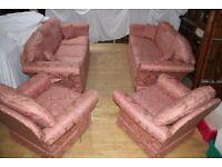 Very large four piece sofa set