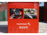 TOMTOM Rider 2nd edition motorcycle touch screen satnav with Bluetooth headset