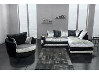 🛑⭕BEST SELLING BRAND🛑⭕ New Crush Velvet Fabric Dino Corner or 3 and 2 sofa set - FAST DELIVERY