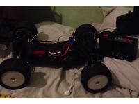 Electric brushless rc truggy use 5 time
