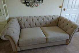 NEXT Gosford Chesterfield Medium 3 Seater Sofa as new with tags