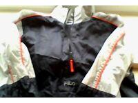 FILA Stitched Logo Top, Dark Navy Blue, Half-zip, Size: L/G, for Age 14, 166CM, 65-inch