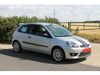 Ford Fiesta Zetec S 1.6 Petrol 3dr Facelift 2006 // Unique Silver/Black ST Stripes // Full Leather
