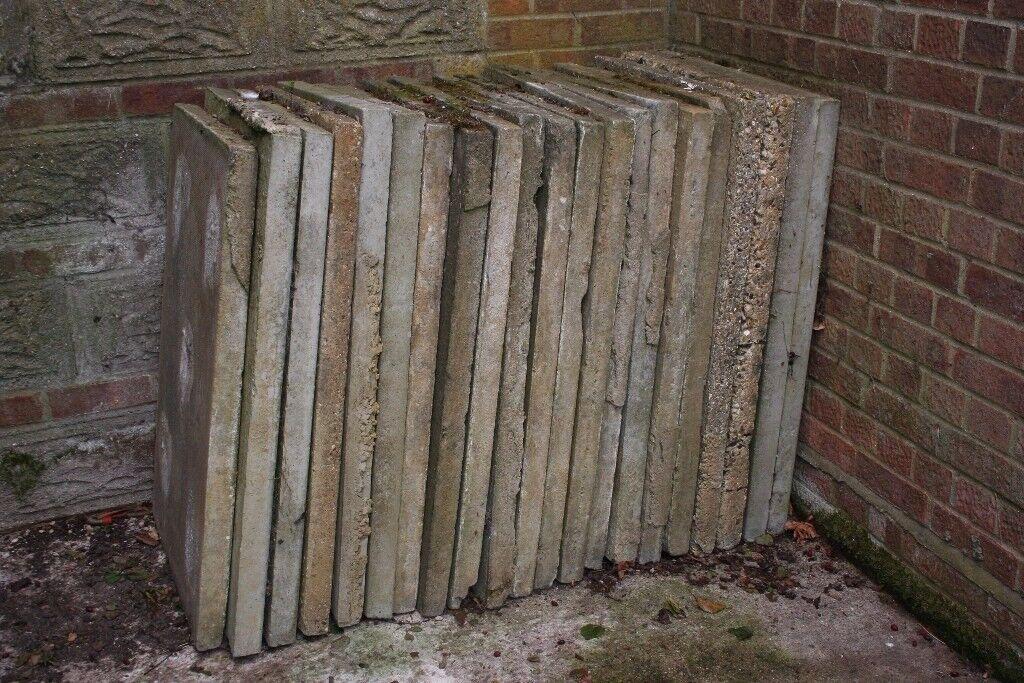 5 x concrete slabs 90cm x 60cm x 6cm at £1.75p each