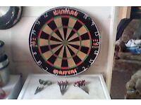 dartboard and 3 sets tungsten darts