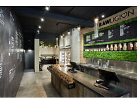 Raw chef wanted for organic, plant based cafe C. London. Immediatete start.