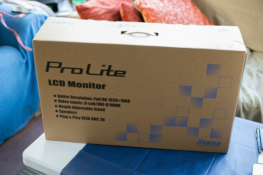 Prolite LCD monitor full HD 1920 X 1080 brand new