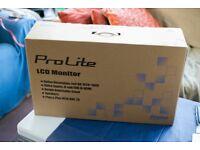 Prolite LCD monitor full HD 1920 X 1080 brand new