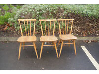 vintage ercol chairs 1960 x 3
