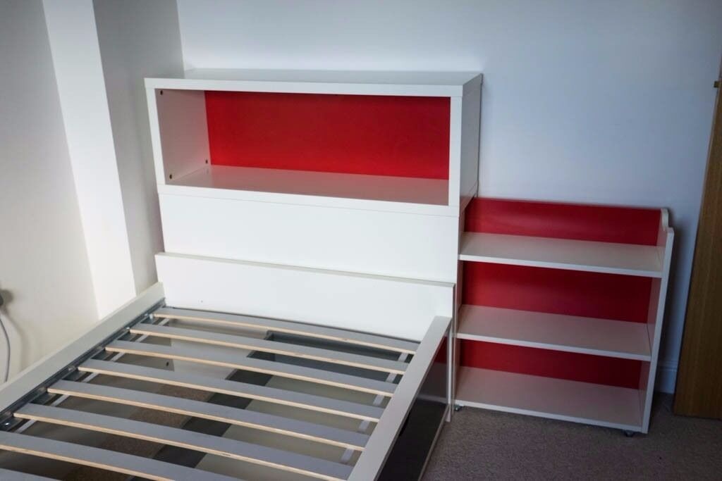 IKEA FLAXA Single Childrens Bed / Guest bed with storage ...