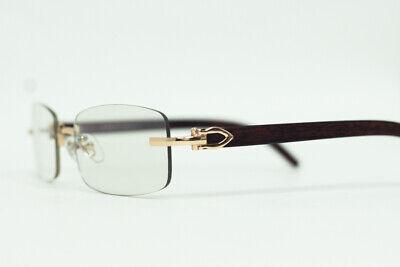Dean Slim  Faux Wood Frame  Style Cartier Luxury Women/Men Sunglasses