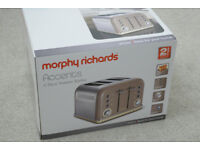 Morphy Richards Accents Barley 4 slice toaster, brand new boxed