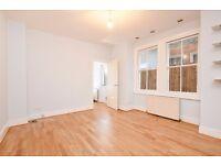 A spilt level ground floor one double bedroom garden flat, situated on Garratt Lane.