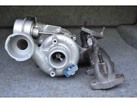 Turbocharger 54399880020 for Volkswagen T5 Transporter - 1.9 TDI, 85/105 BHP, 63/77 kW. Turbo.