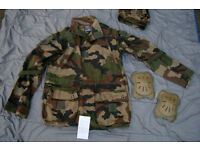 NEW - Legion Etrangere, Foreign Legion, Army COMBAT Smock + Hood, Pads