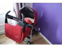 Silver Cross 3D Pram & Pushchair Travel System+Baby Carrier+Mosquito Net.