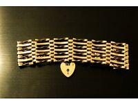 Vintage (46 years) 9ct Gold 7 bar, gate bracelet + locket_£150_ono.