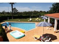 Holiday in Algarve rent per week house with 4 bedroom and 3 toilets plus bbq area £ 65.00 PP a day