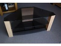 Oak & Glass TV Stand - Great Condition / hardly used!
