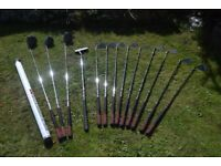 Golf clubs, bag, trolley & assorted items for sale