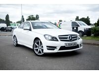 Mercedes-Benz C Class C220 CDI AMG Sport Coupe not 3 series audi a5 bmw 2 series vw eos cabriolet