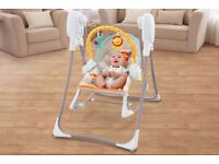 Fisher price 3-in-1 swing and rocker Plus Rainforest playmat for £60.