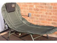 fishing chair also camp bed, brand new never used made by CARPKENETICS,