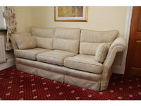 Vale Power recliner chair and matching Bridgecraft 3 seater sofa and chair