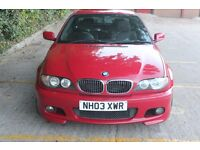 "BMW E46 Facelift Coupe 318Ci 2003 spares repairs, Imola Red, Alcantara, 18"" MV3 alloys, full M Sport"
