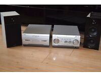SONY CD/RADIO/DOUBLE CASSETTE AUX IN 150 W CAN BE SEEN WORKING