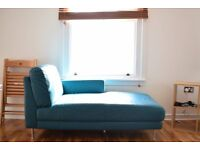 Chaise Lounge LEATHER- Turquoise