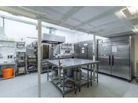 Commercial kitchen to rent - long term rates offered- storage and office included