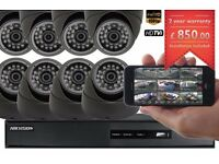 Professioanl CCTV Cameras Full HD 1080p Clear Image Supply and Installation 8 Cameras Kit