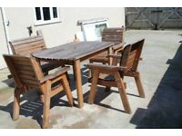 Full set of garden furniture crafted by Charles Taylor
