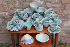 28 Pieces of Handmade Ceramics By Healy Pottery Irish Studio Pottery Coffee Tea Set Art Trio Plate