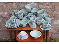 28 Pieces of Handmade Ceramics By Healy Pottery Irish Studio Pottery Coffee Tea Set Art Trio Plate