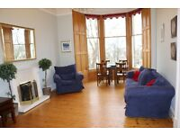 Stockbridge/Comely Bank, large 2-bedroom drawing room flat, short or long term