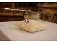 HAND MADE wedding ring cushion