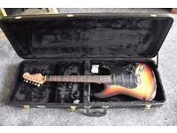 Electric Guitar, Hard Carry Case and Fender Amp Package!