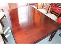 Victorian mahogany wind-out dining table, 2 leaves, 90 inches. OFFERS