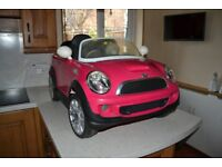 BMW Mini Cooper S Pink Ride On motorised Electric Car
