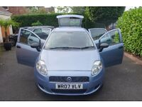 2007 Fiat Grande Punto 1.2 Active 8v 5-door Metallic Blue, Low Mileage, Great condition, 9 Month MOT