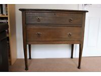 Stunning Solid Oak Antique/Vintage Dressing Table with 2 Drawers.