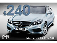 Mercedes E Class SPORT diesel - PCO Hire -UBER HIRE Rent for Executive chauffeur UBER E220d