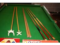Snooker Table 3/4 size 8'x4' Victorian Mahogany Tulip leg slate bed