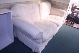 White Large 3-Seater Sofa