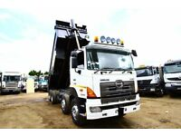 2007 57 PLATE HINO 700 3241 8X4 STEEL BODY TIPPER TRUCK EURO 4 HINO TIPPER FOR SALE IN KENYA AFRICA
