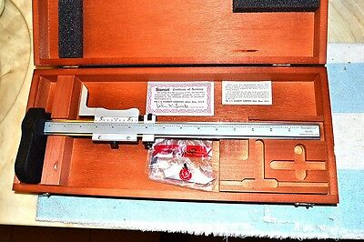 L S Starrett 255z-12 Flush Reading Vernier Height Gage Gauge With Case New Nib